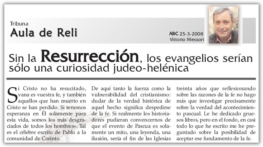 Un artículo sobre la Resurrección