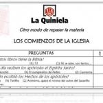 La «Quiniela»: otro modo de repasar contenidos
